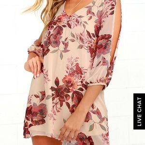 LuLu's Open Arm Sheer Floral Date Dress! N…
